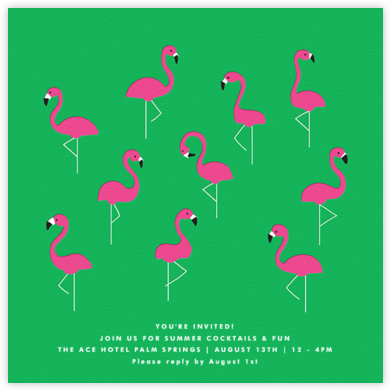 Flamingos - The Indigo Bunting - Summer Party Invitations