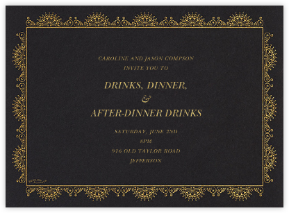Arch Border - Black - Bernard Maisner - Dinner party invitations