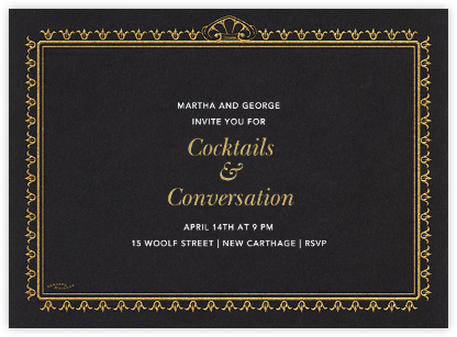 Fire Border - Black - Bernard Maisner - Bernard Maisner Invitations