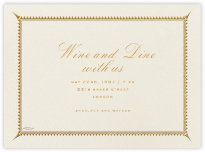 Triangles Border - Cream - Bernard Maisner - Dinner party invitations