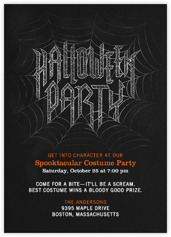 Halloween Party - Crate & Barrel - Halloween invitations