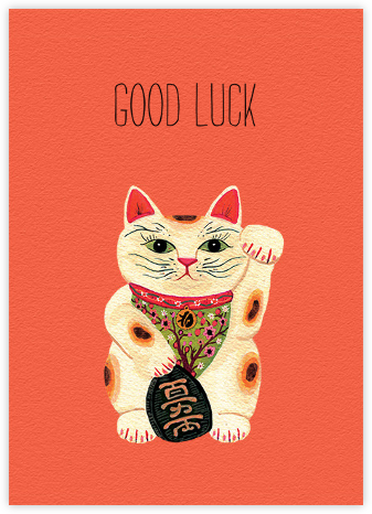 Good Luck Kitty (Becca Stadtlander) - Red Cap Cards - Good Luck Cards