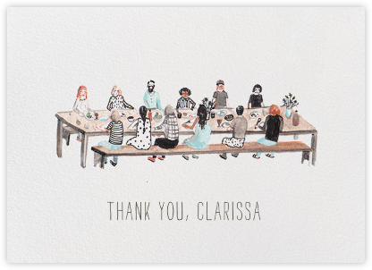 At the Table (Sarah Burwash) - Red Cap Cards - Online Thank You Cards