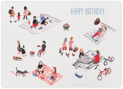 Picnic Park Birthday Card(Sarah Burwash) - Red Cap Cards - Birthday Cards