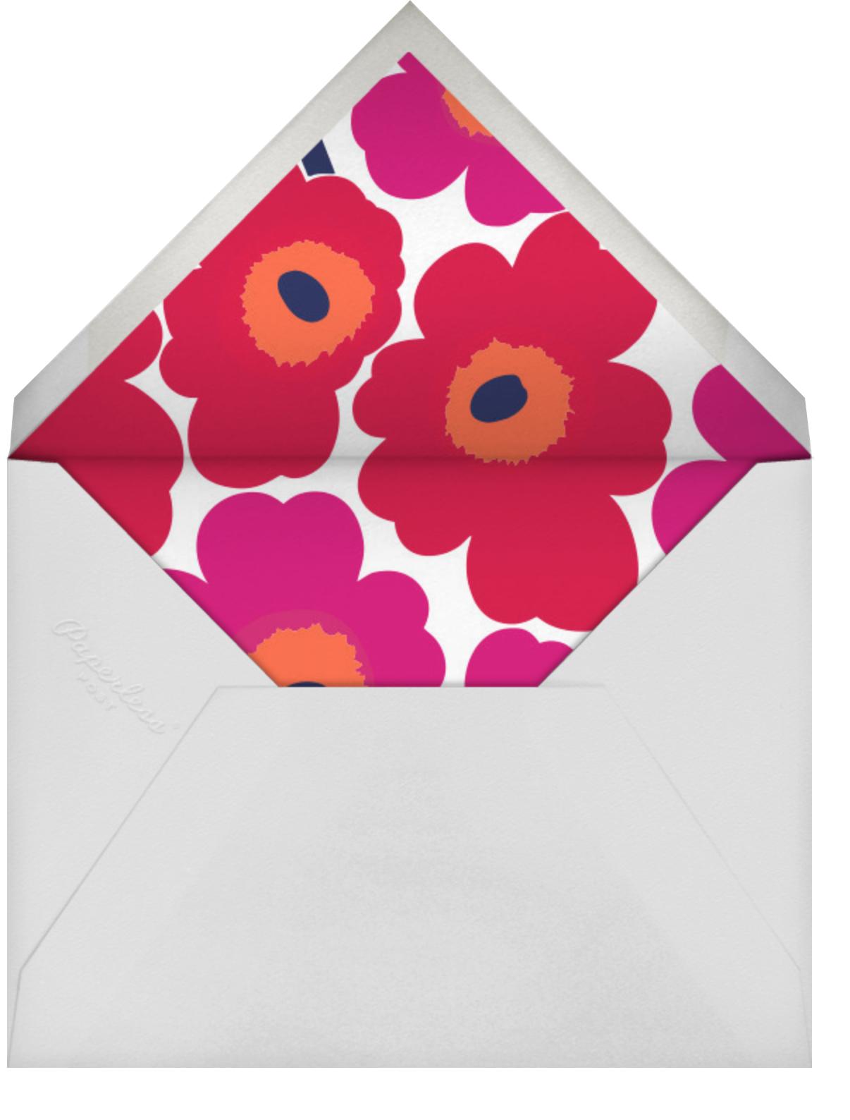 Unikko (Horizontal) - Red - Marimekko - Cocktail party - envelope back