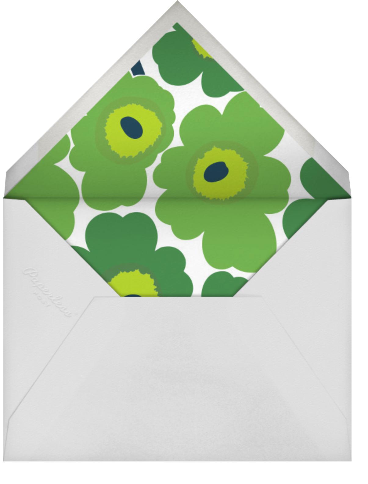Unikko (Horizontal) - Green - Marimekko - Cocktail party - envelope back