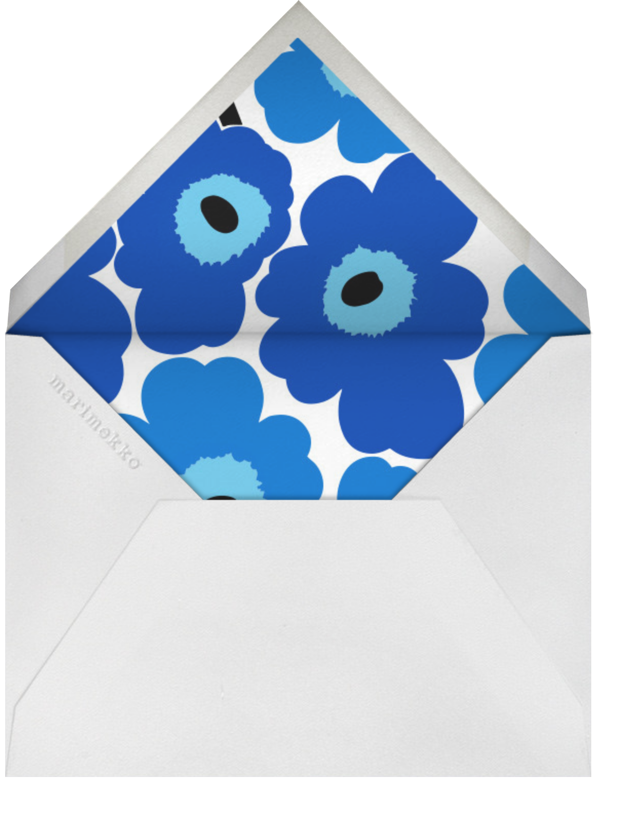 Unikko (Horizontal) - Blue - Marimekko - Cocktail party - envelope back