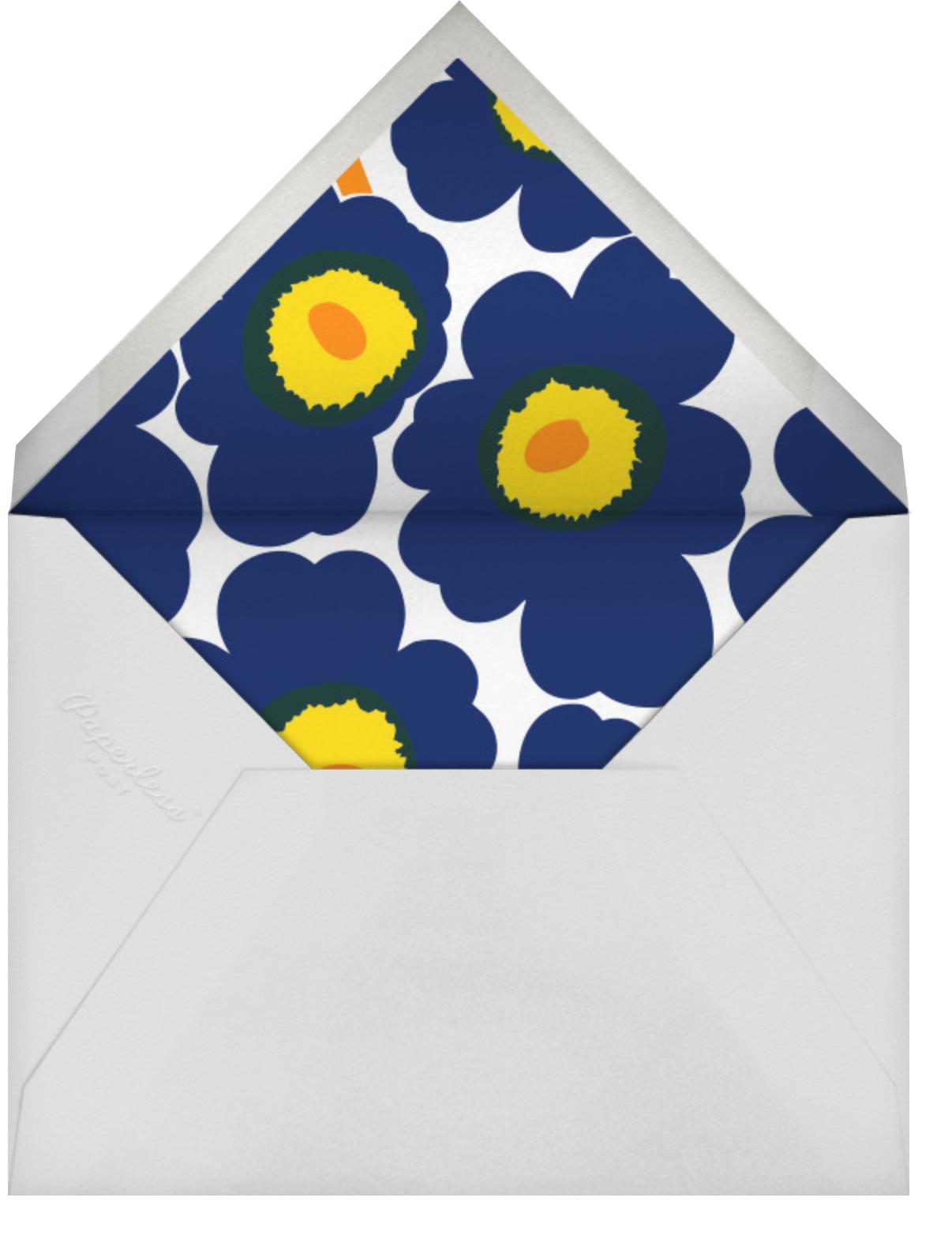 Unikko (Horizontal) - Dark Blue - Marimekko - Cocktail party - envelope back
