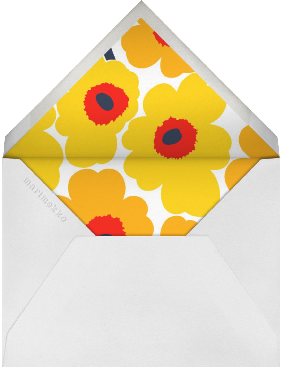 Unikko (Tall) - Yellow - Marimekko - Cocktail party - envelope back