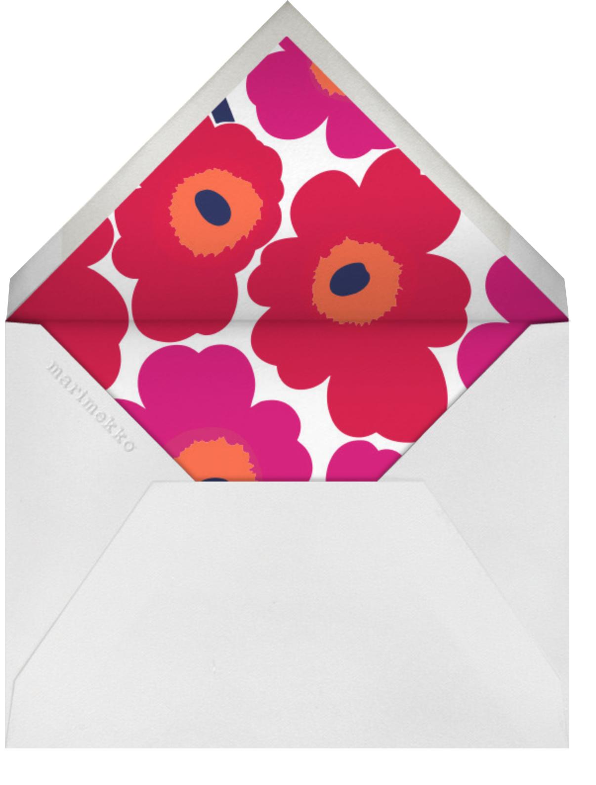 Unikko (Square) - Red - Marimekko - Picnic - envelope back
