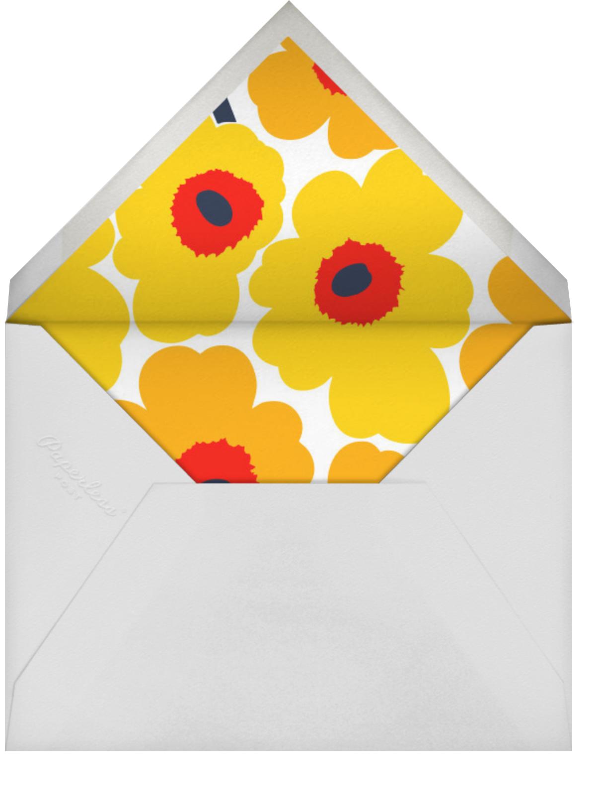 Unikko (Square) - Yellow - Marimekko - Cocktail party - envelope back