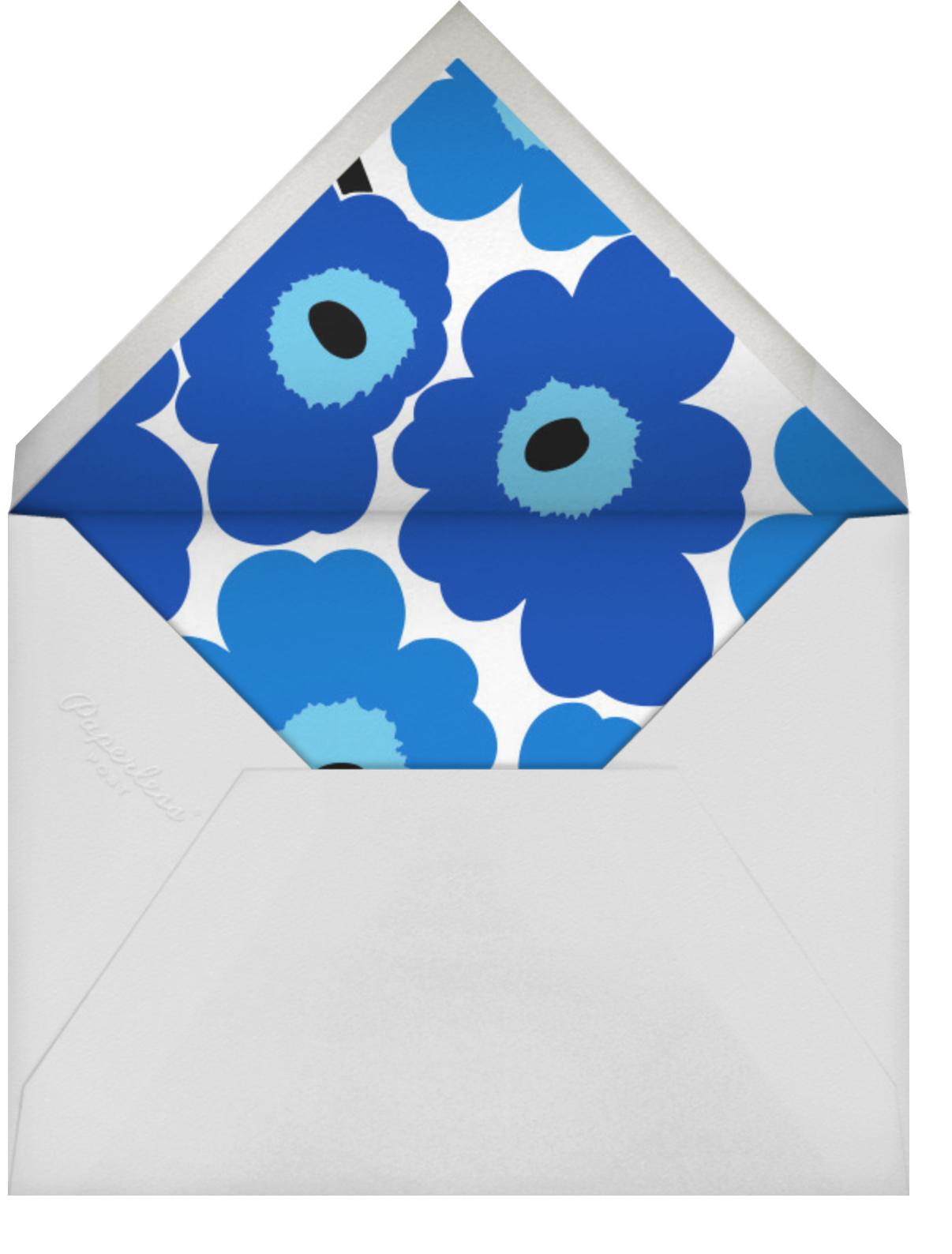 Unikko (Square) - Blue - Marimekko - Cocktail party - envelope back