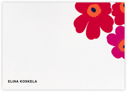 Unikko (Stationery) - Red - Marimekko - Personalized Stationery