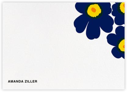 Unikko (Stationery) - Dark Blue - Marimekko - Personalized Stationery