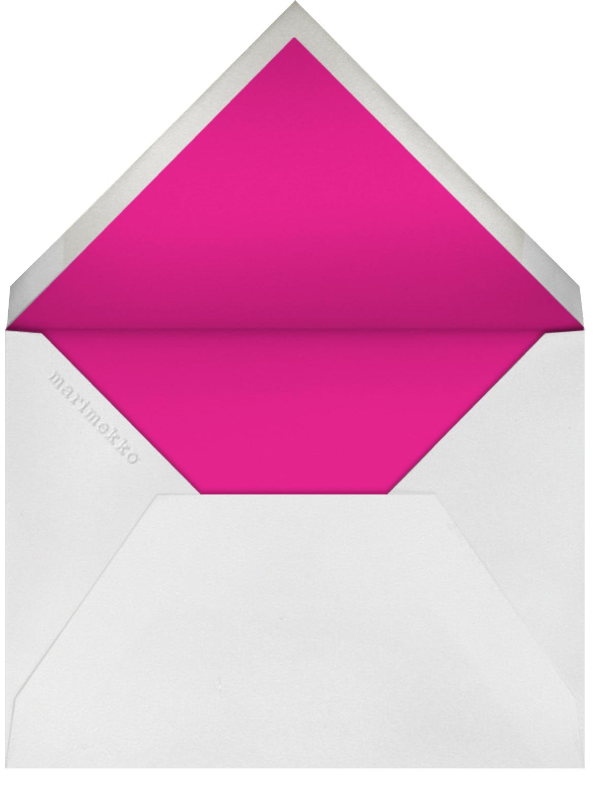 Sateenkaari - Pink - Marimekko - Summer entertaining - envelope back