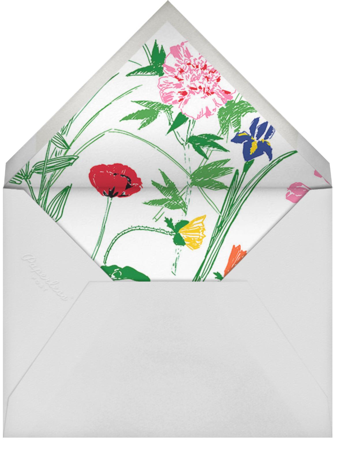 Puutarhakutsut (Tall) - Green - Marimekko - Baby shower - envelope back