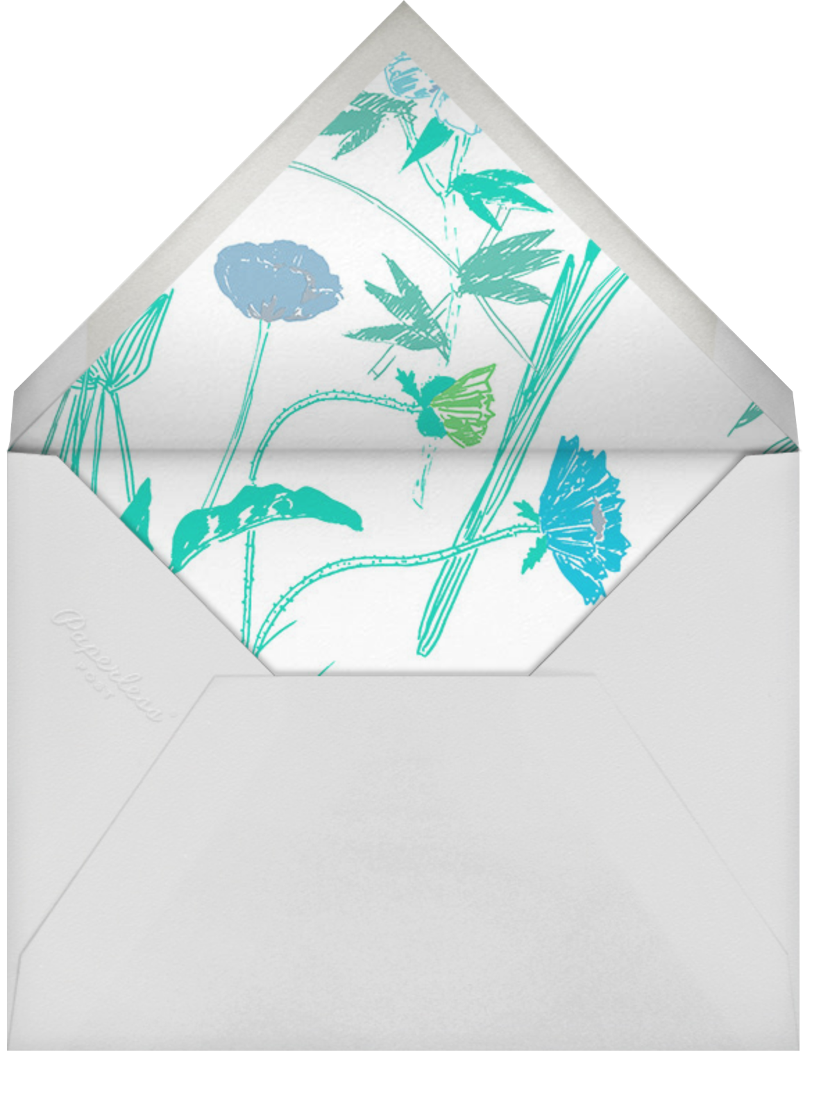 Puutarhakutsut (Tall) - Blue - Marimekko - Baby shower - envelope back