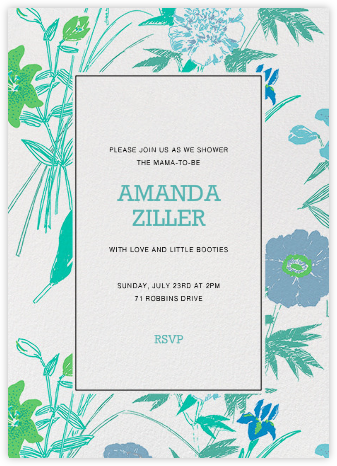 Puutarhakutsut (Tall) - Blue - Marimekko - Baby shower invitations