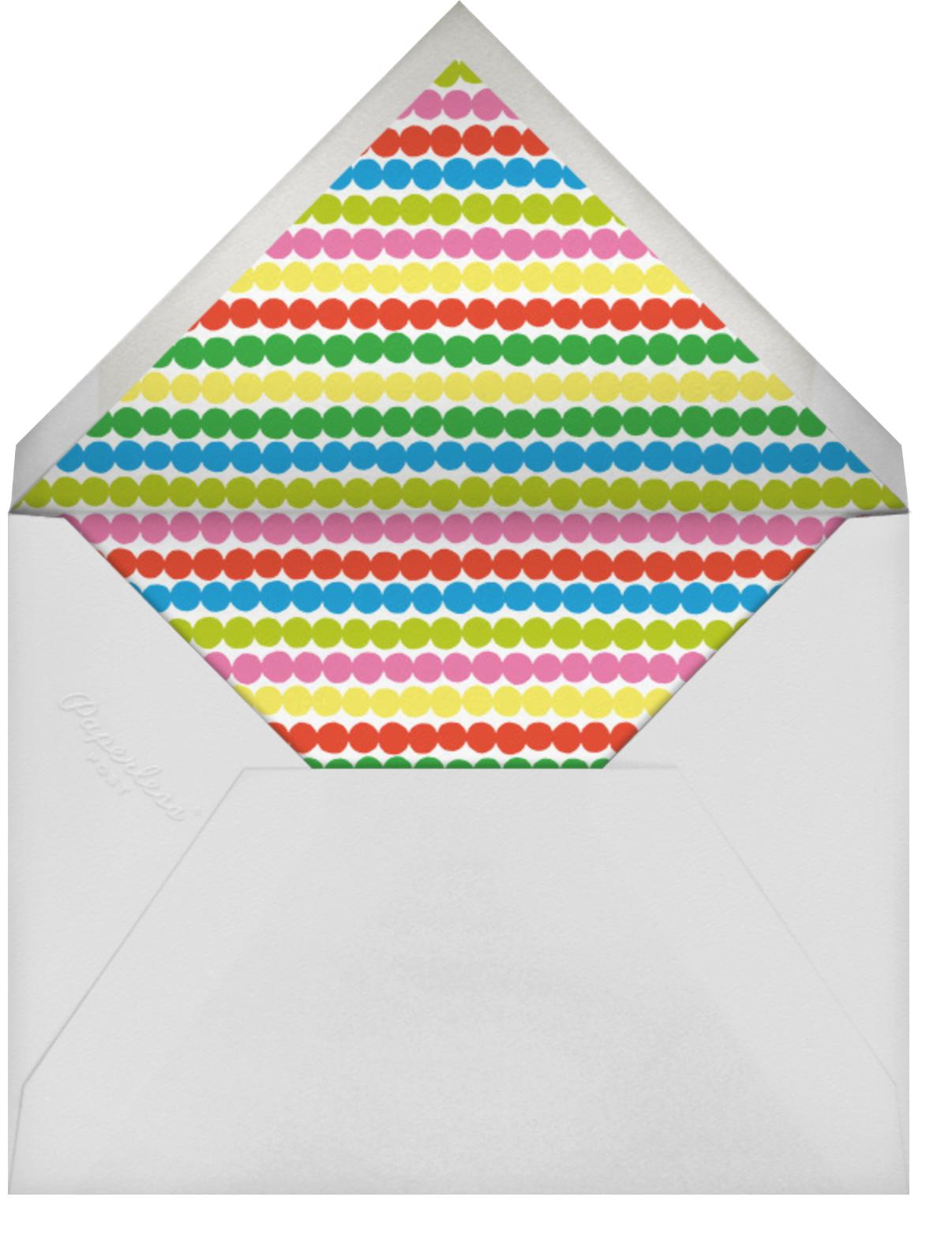 Karkuteilla - Green - Marimekko - Kids' birthday - envelope back