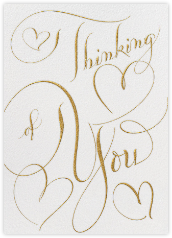 Thinking Of You - Ivory Gold - Bernard Maisner - Bernard Maisner Invitations