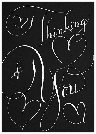 Thinking Of You - Black - Bernard Maisner -