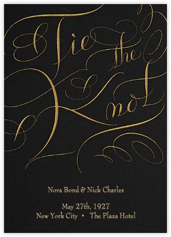 Tie The Knot Script - Black - Bernard Maisner -