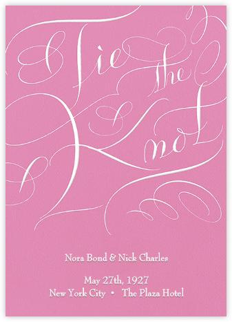 Tie The Knot Script - Pink - Bernard Maisner -