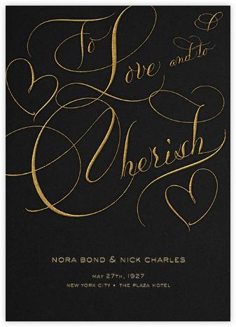 To Love And To Cherish - Black - Bernard Maisner -