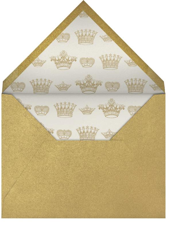Let's Celebrate Script - Black - Bernard Maisner - Adult birthday - envelope back