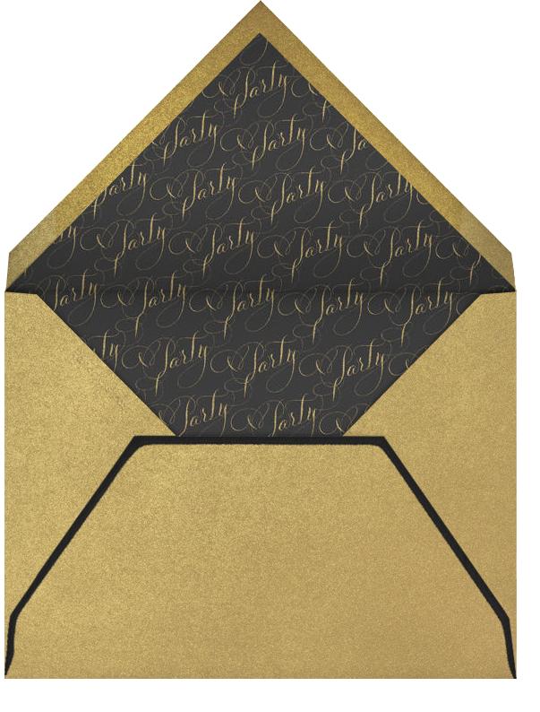 Let's Party Script - Black - Bernard Maisner - Adult birthday - envelope back