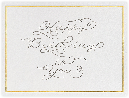 Cursive Birthday - bluepoolroad - bluepoolroad invitations and cards