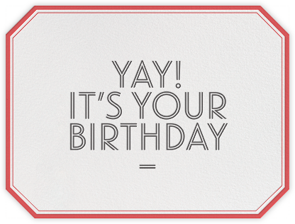 Yay! It's Your Birthday - bluepoolroad - bluepoolroad invitations and cards