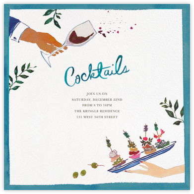 Another Canapé, Please - Happy Menocal - Holiday party invitations