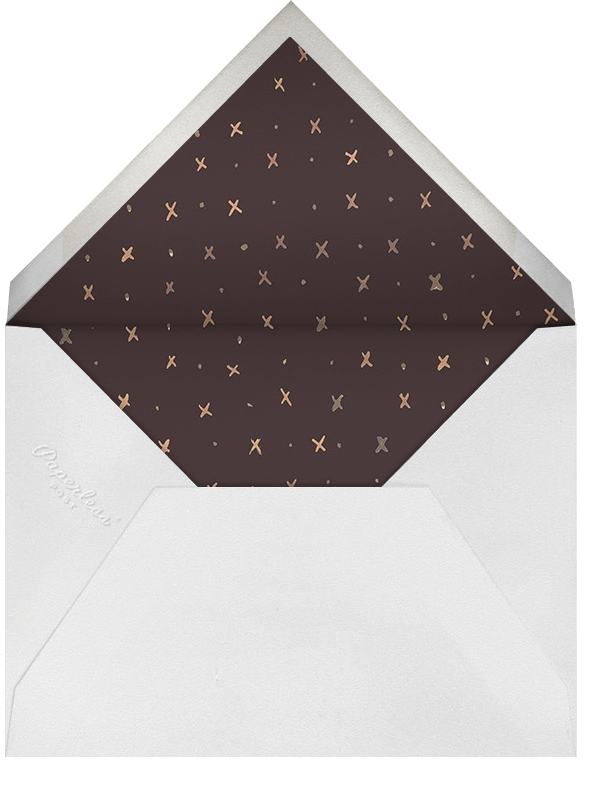 Canterbury Family Crest - Happy Menocal - Anniversary party - envelope back