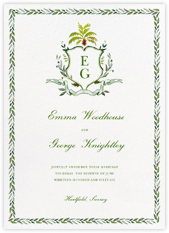 Crusoe Family Crest - Happy Menocal - Wedding Announcements