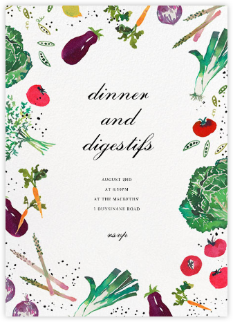 Farmer's Market - Happy Menocal - Dinner party invitations