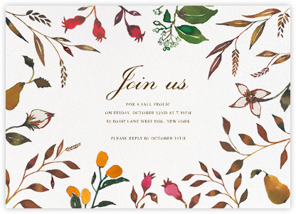 Harvest Market - Horizontal - Happy Menocal - Fall Entertaining Invitations