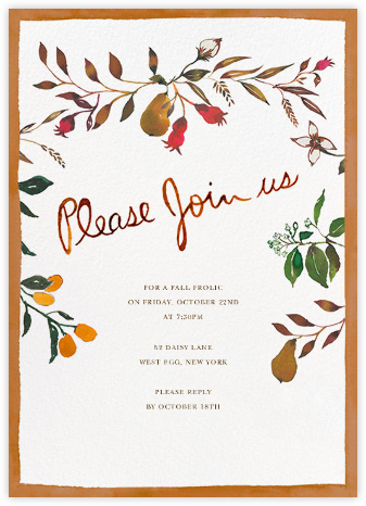 Harvest Market - Tall - Happy Menocal - Fall Entertaining Invitations