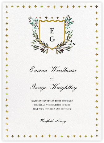 Canterbury Family Crest - Happy Menocal - Wedding Announcements