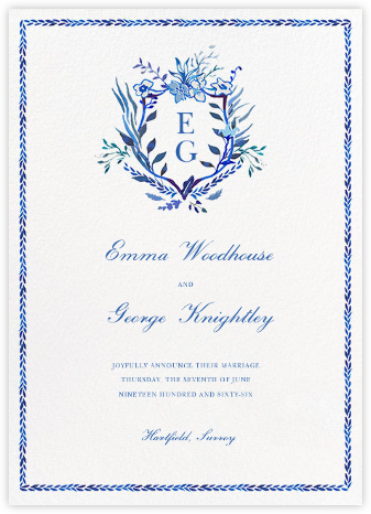 Orleans Family Crest - Happy Menocal - Wedding Announcements