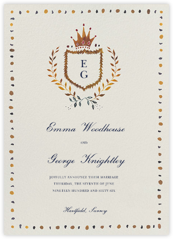 Windsor Family Crest - Happy Menocal - Wedding Announcements