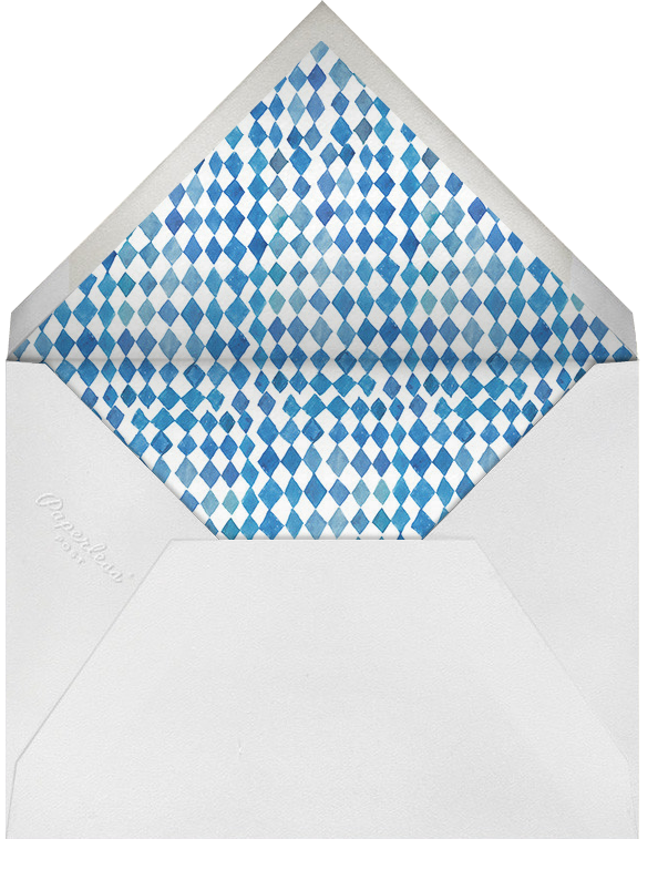 Orleans Family Crest - Happy Menocal - Anniversary party - envelope back
