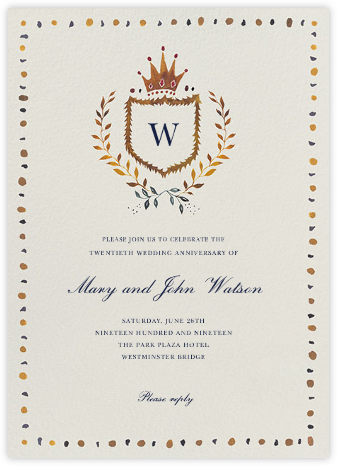 Windsor Family Crest - Happy Menocal - Celebration invitations