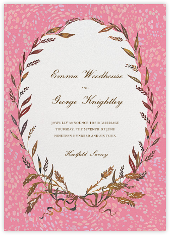 Wheaten - Happy Menocal - Wedding Announcements