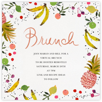 Tutti Frutti - Happy Menocal - Brunch invitations