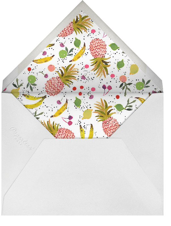 Tutti Frutti (Stationery) - Happy Menocal - Personalized stationery - envelope back