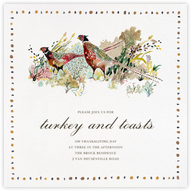 Pheasantries - Happy Menocal - Autumn entertaining invitations