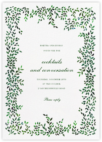 Hedgerow - Happy Menocal - General Entertaining Invitations