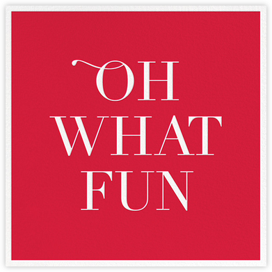 Oh What Fun - Sugar Paper - Professional party invitations and cards