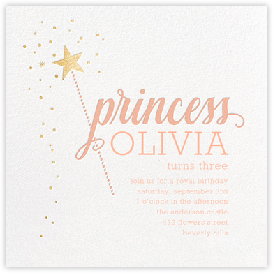 Princess Party - Sugar Paper - Online Kids' Birthday Invitations